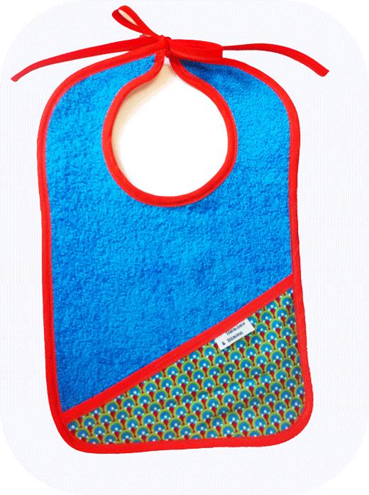 bavoir-bleu-motif-paon-absorbant-biomome-éponge-motif-web