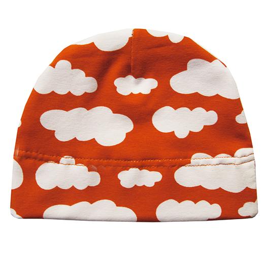 bonnet jersey de coton nuage orange biomome et bomino