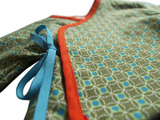 cache coeur onde pointilliste vert biomome et bomino detail