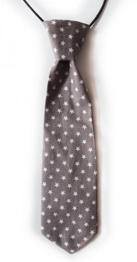 cravate etoile grise biomome et bomino