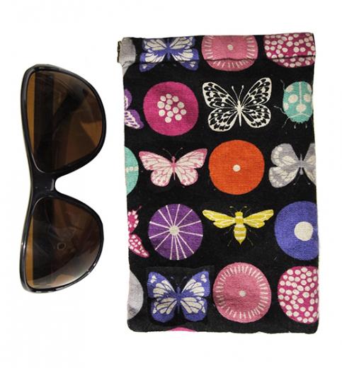 etui à lunette clic clac papillon kokka biomome et bomino detail