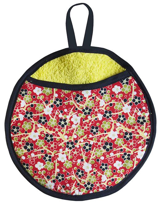 gant biomome et bomino motif japonais rouge