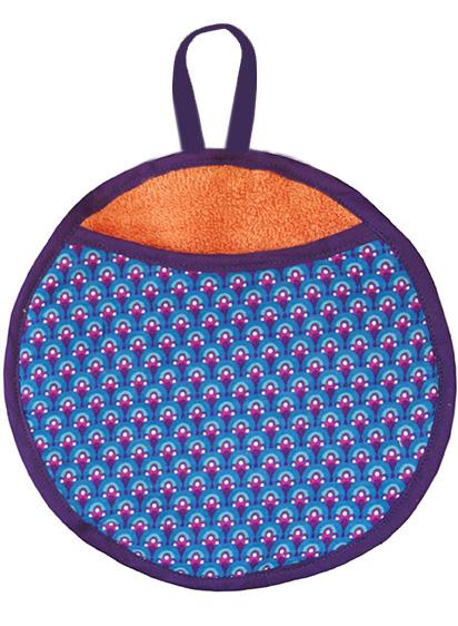 gant biomome et bomino motif paon bleu