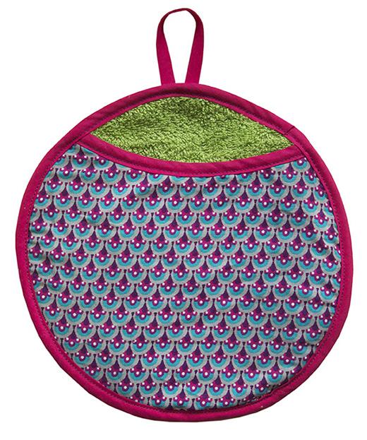 gant biomome et bomino motif paon lagon