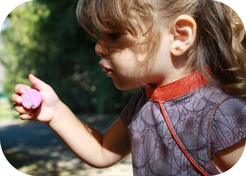 robe mao avec manche biomome et bomino detail