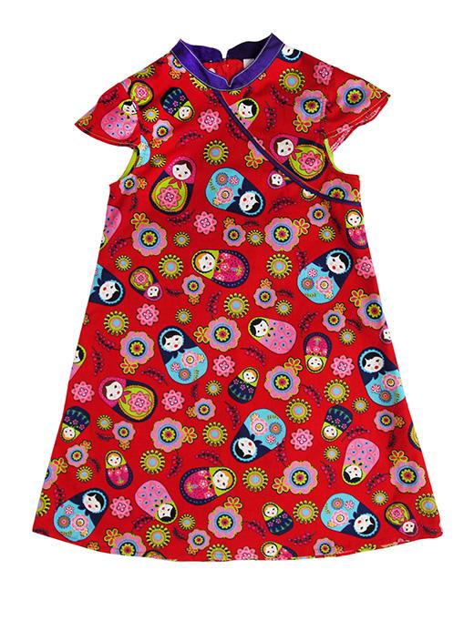 robe mao matriochka rouge biomome et bomino face copie