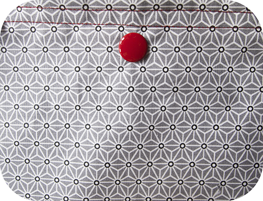 tote bag tissu huilé asanoha gris biomome et bomino detail