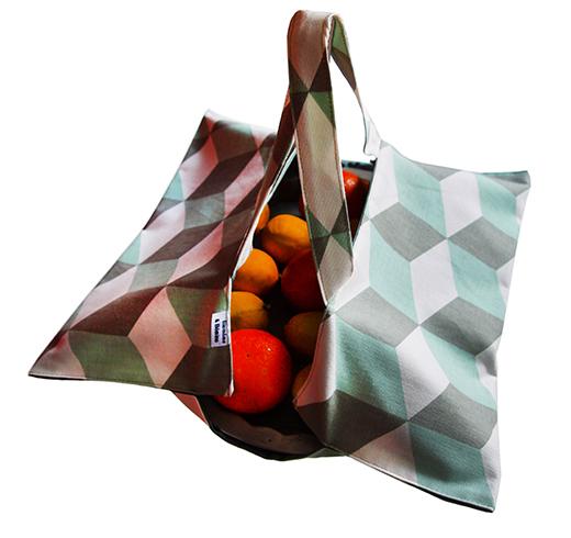 sac a tarte cubique année 30 vert d'eau biomome et bomino