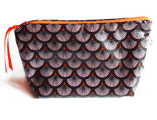 trousse-tissu-enduit-eventail-corail zip orange biomome-et-bomino